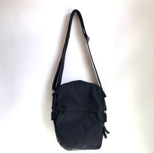 IKEA Black Canvas Crossbody Bag